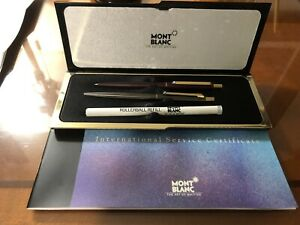 MONTBLANC PEN AND PENCIL SET WITH BOX