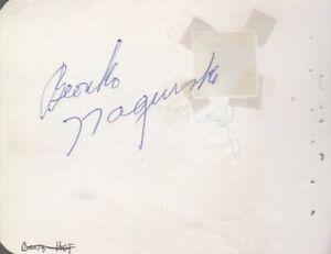 Pro FB HOFer Bronko Nagurski Autograph Signed Vintage Album Page d90