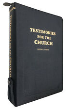 Testimonies for the Church Vol 1-9 Black Genuine Leather Zippered by E G White