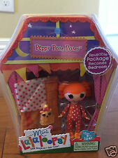 NIP MINI LALALOOPSY Peppy Pom Poms Doll #6 Series 8 Sleeping Bag Slumber Party