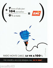 PUBLICITE ADVERTISING 096  1995   Radio Monte Carlo 0 blabla RMC