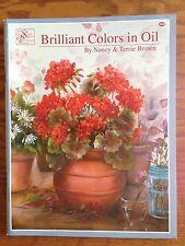 NEW 'Brilliant Colors in Oil' Pattern Book By Nancy & Terri Brown UNUSED Scheewe