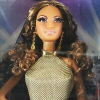 NRFB BARBIE ~ (N50) THE LOOK RED CARPET GOLD DRESS LEA MODEL MUSE MIB DOLL