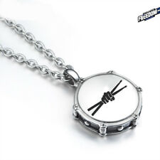 UNIQUE Stainless Steel Drummer DRUM STICKS PENDANT Necklace