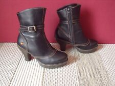 LOW BOOTS BOTTINES ART CUIR BRUN POINTURE 36