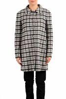 Prada 100% Wool Multi-Color Chekerd Button Down Women's Basic Coat US S IT 40