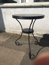 42cm Round Side Table End Display Black Metal Small Tea Coffee Table UK Delivery
