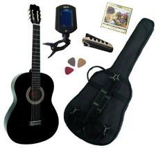 Pack Guitare Classique 3/4 (8-13ans) Pour Enfant Avec 5 Accessoires (noir)