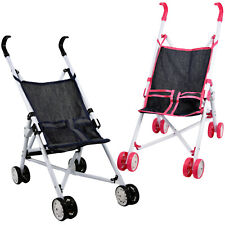 More details for baby doll foldable pink / blue stroller buggy jogger dolls pram accessories toy