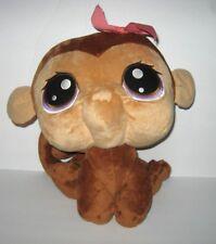 "Littlest Pet Shop Large Bobblehead Plush Monkey Brown Tan Hasbro 63502 15"""