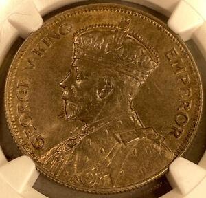 1934 New Zealand 1/2 Crown - NGC MS 64 - POP 7 - Beautiful Toning