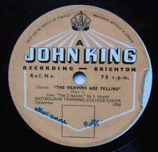 "A John King Recording Brighton 10"" 78rpm Eastbourne Training College Choir 1958"