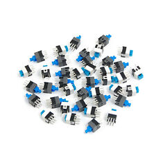 40 Pcs 7 x 7mm PCB Tact Tactile Push Button Switch Self Lock 6 Pin DIP  S6X2
