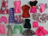 VTG Mattel Barbie Clothing Mixed lot Dresses and More Free Ship