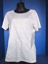 REI~Gray & White Mesh VENTILATED ATHLETIC SHIRT TOP~Women's Medium