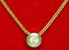 Damen Kette 42 cm. +  Diamant 0,10 ct. / Brillanten Wes-si Anhänger 585 er Gold