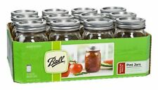 6 x Ball Mason Pint (500ml) Preserving Weddings Regular Mouth Jars and Lids