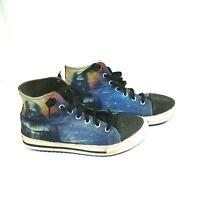 Skechers Star Wars Hi-Top Canvas Shoes Sneakers Kids Boys Size 4 Darth Vader
