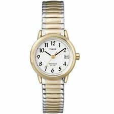 Timex T2H381, Easy Reader, Women's, 2-Tone Expansion, Indiglo, Date, T2H3819J