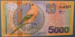 SURINAME SURINAM 5000 5 000 GULDEN NOTE ISSUED 01.01. 2000, P 152