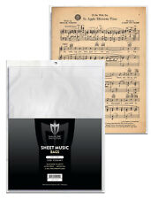 100 Max Pro Sheet Music Archival 2-mil Poly Bags Acid Free Backer Boards backing