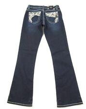 MISS ME Jeans #XY7573BV Applique & Crystal Boot Cut Jeans Sz 28-29 x 32