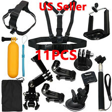 Head Chest Mount Floating Monopod Accessories Kit For GoPro 2 3 3+ 4 5 6 Camera