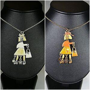 PILGRIM Halskette Kette Halsreifen, Schmuck, Weiß, Orange, Frau, Tasche,Männchen