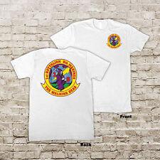 1st Battalion, 9th Marines Regiment USMC Marine Corp WWII Black or White T-shirt