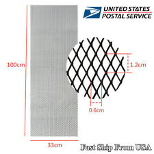 Car Front Intake Grille Vent Aluminum Rhombus Mesh 12mm*6mm Universal USA Stock