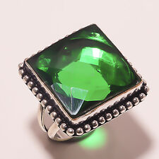 FACETED CHROME DIOPSIDE HANDMADE JEWELRY  RING 8.5 A-22
