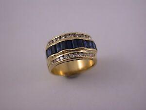 feiner Saphir Brillant Juwelier Ring Gelbgold 750
