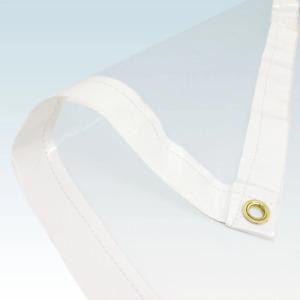 2.4x1.8m Clear PVC Tarpaulin Cover Market Stall Tarp