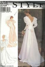 2258 Vintage Style Sewing Pattern Misses Wedding Dress Bridal Gown Full Length