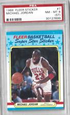 1988 Fleer Sticker Michael Jordan #7 PSA 8 NM-MT  Well Centered