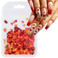 New 1Bag Holographic Leaves Nail Arts Stickers Decoration Sequins Glitter Flakes