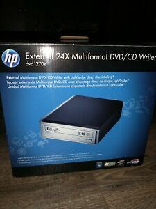 HP External 24x Multiformat DVD/CD Writer Lightscribe dvd1270e dvd cd few uses
