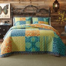 Jessica Simpson Loria Cotton Patchwork Quilt King size Reversible