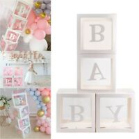 8 Letters Custom Cube Transparent Box Kid Gift Baby Shower Birthday Party Decor