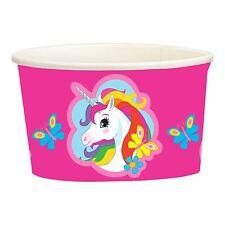 8pk papel de Unicornio tratar Helado Tazas 251ml para niños vajilla de fiesta de cumpleaños