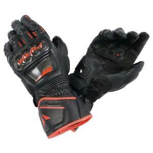 Dainese Druid D1 Long Gloves Black/Fluo-Red