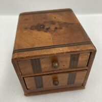 Occupied Japan Inlaid Wood Musical Cigarette Box & Inlaid Scottish Terriers B34