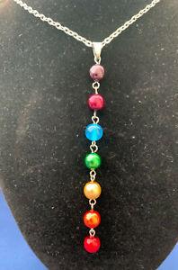 Chakra Rainbow Drop Pendent necklace
