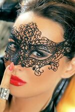 Black Lace Masquerade Mask - Next Day Delivery to Metro Aust - Black lace Angel