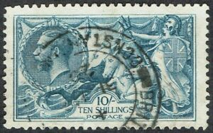 1920 British Levant 10/- Seahorse SG Z201 BRITISH.A.P.O CONSTANTINOPLE Cat.£180