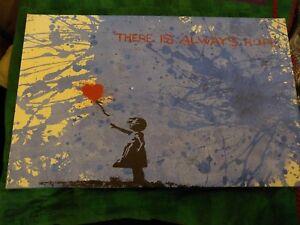 Banksy Canvas Print 19 X 12