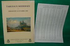 catalogue vente enchères VERSAILLES Tableaux modernes + liste prix de vente (13)