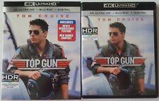 TOP GUN 4K ULTRA HD BLU RAY 2 DISC SET + SLIPCOVER SLEEVE FREE WORLDWIDE SHIPPIN