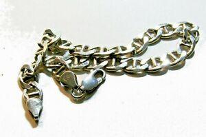 Gourmette/bracelet en argent massif 925 -- 23 cm