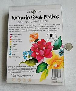 Altenew Watercolor Brush Markers, Spring Garden Set, 10 colors, NIP never used